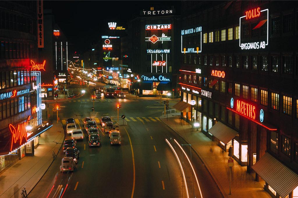 Kungsgatan in Stockholm 1964