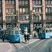 Trams at Tegelbacken in Stockholm 1962 by Stockholm Transport Museum Commons