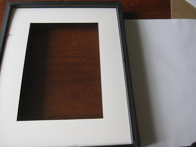 glass and matting frame back