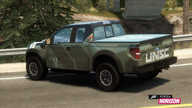 2011 Ford F-150 SVT Raptor with Halo livery