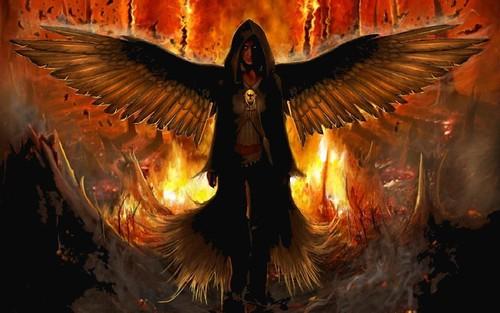 [フリー画像素材] グラフィック, イラスト・CG, 堕天使 ID:201212160400