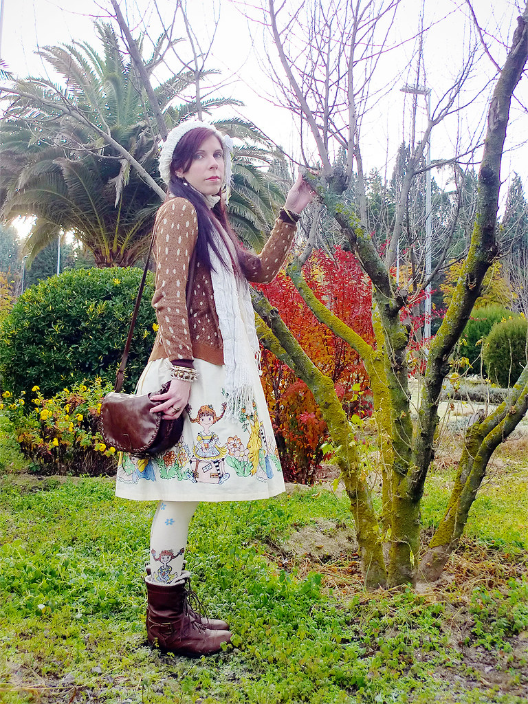 Otome Kei: Emily Temple cute Pippi JSK & Socks and Syrup Bambi Cardigan
