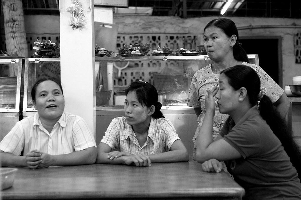 Life Scene, Aung Thukha Restaurant, Yangon, Myanmar (Burma)