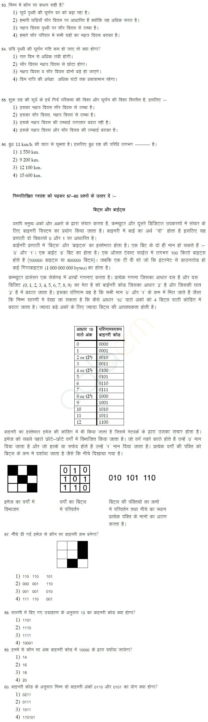 Class XI CBSE Sample Papers 2014 (in Hindi)