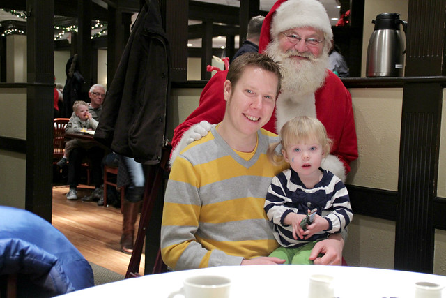 Macy's Breakfast with Santa - Lucy with Santa