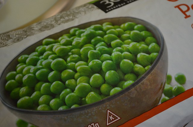 bag of frozen peas