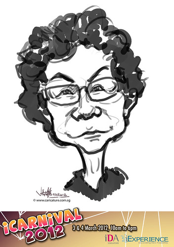 digital live caricature for iCarnival 2012  (IDA) - Day 1 - 83