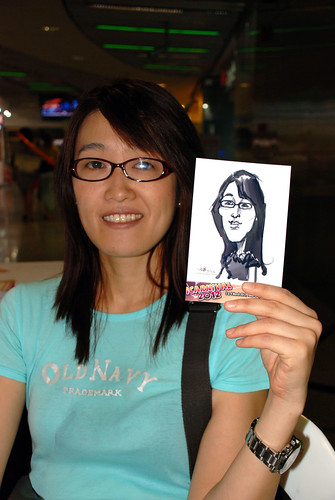 digital live caricature sketching for iCarnival (photos) - Day 2 - 24