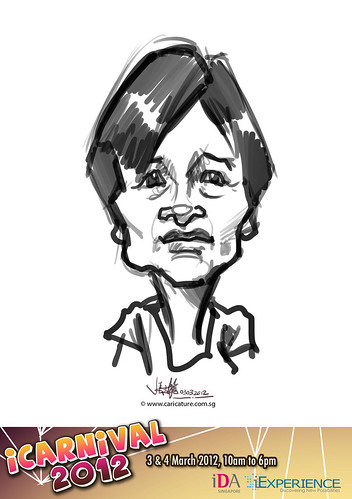digital live caricature for iCarnival 2012  (IDA) - Day 1 - 21