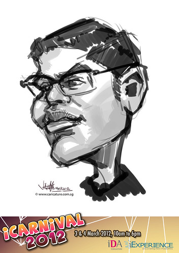 digital live caricature for iCarnival 2012  (IDA) - Day 2 - 70
