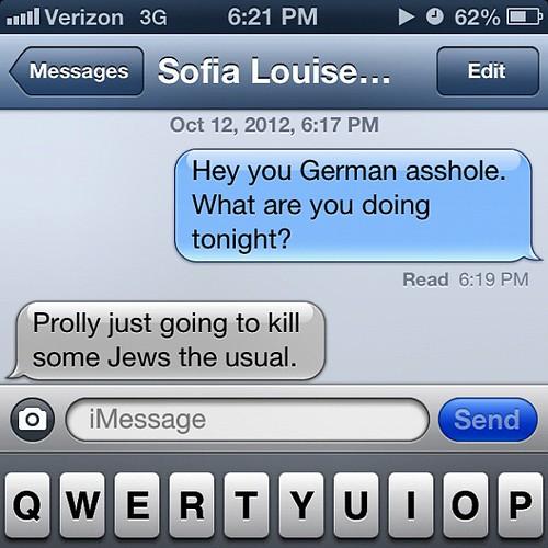 I've missed my nazi Birmingham bestie. @sofialouiseheiss