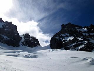 Bajando Glaciar Peñon