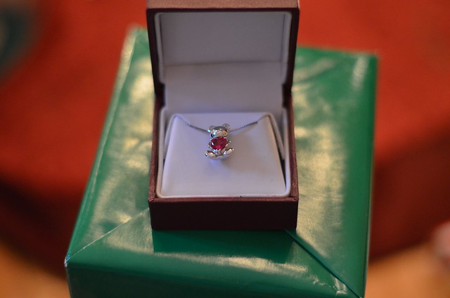 Helzberg Diamonds I am Loved Bear Pendant