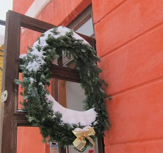 Joulukranssi Porvoossa
