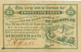 Santa Claus scrip note