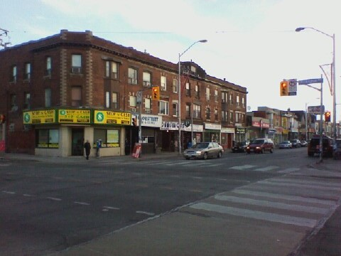 Bloor and Ossington, Sunday morning, looking east
