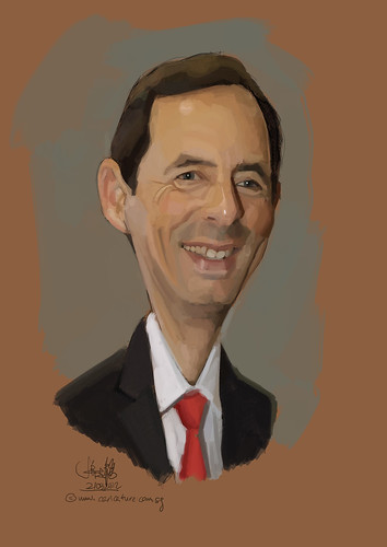 digital caricature of Gido van Praag for Hewlett Packard (revised) - 2