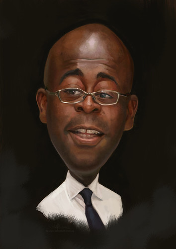 digital caricature of Steve for Hewlett Packard