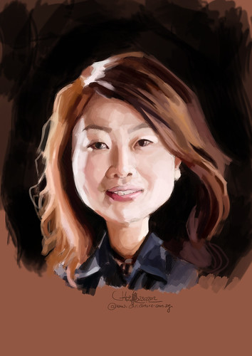 digital caricature of Winnie Hung for Hewlett Packard (revised) - 2