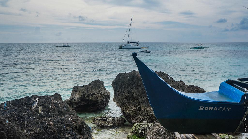 Яхта на острове Боракай