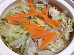 豚肉と白菜の重ね鍋 after