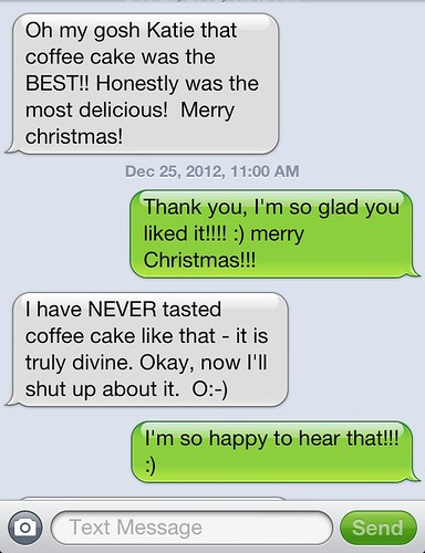 text about the best coffee cake