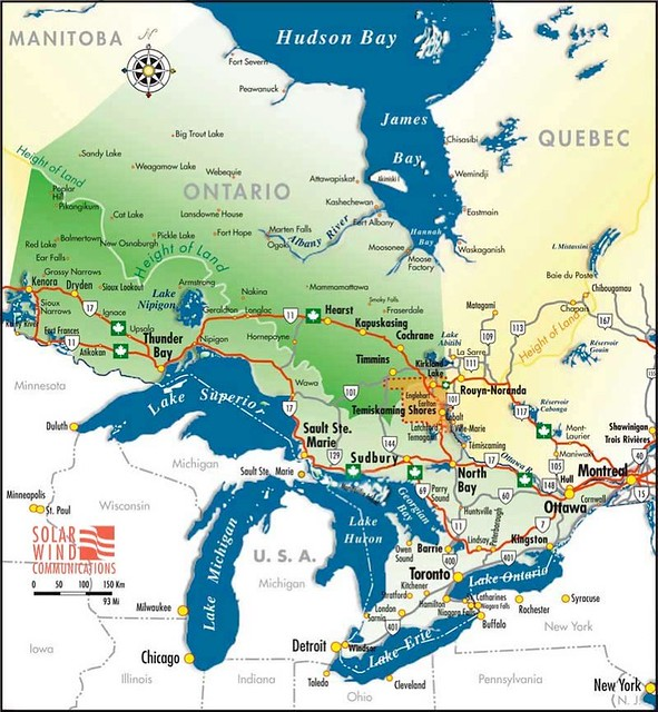 Map Of Temiskaming Country Northeastern Ontario Canada Flickr Photo Sharing