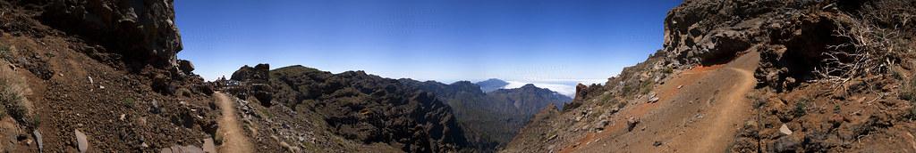 Parque Nacional de La Caldera de Taburiente. Mirador de Los Andenes, Garafía. Isla de La Palma