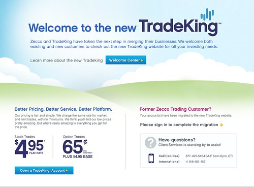 Zecco and TradeKing Account Combination