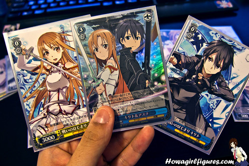 sword art online weiss schwarz trial deck how a girl figures. Black Bedroom Furniture Sets. Home Design Ideas
