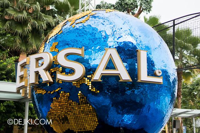 Universal Globe close-up