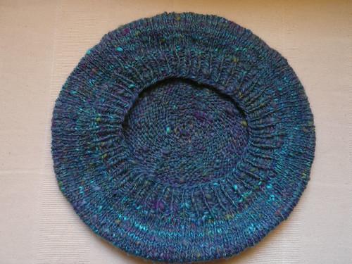 Underside turq beret
