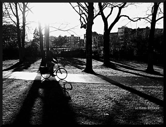 biker against the sun RAW
