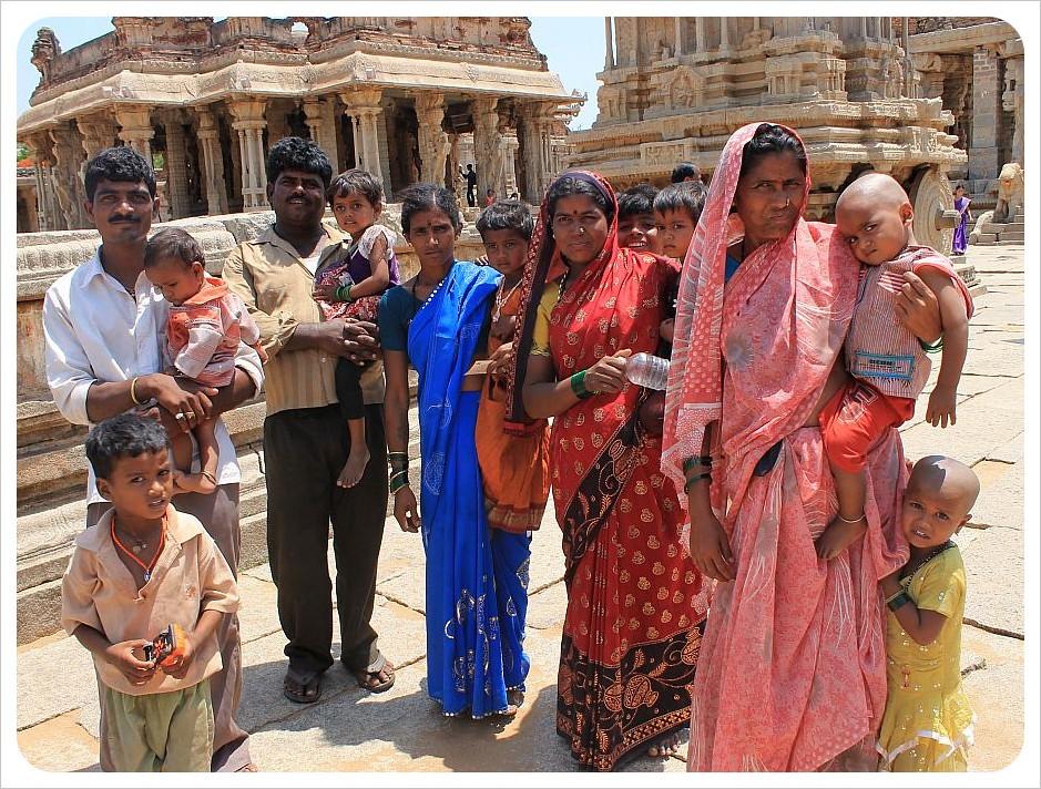 indian family in hampi
