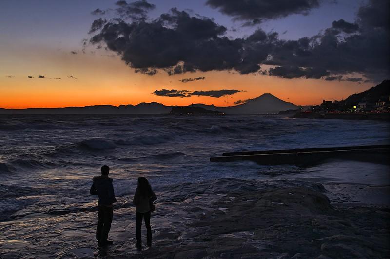 稲村ケ崎の夕日
