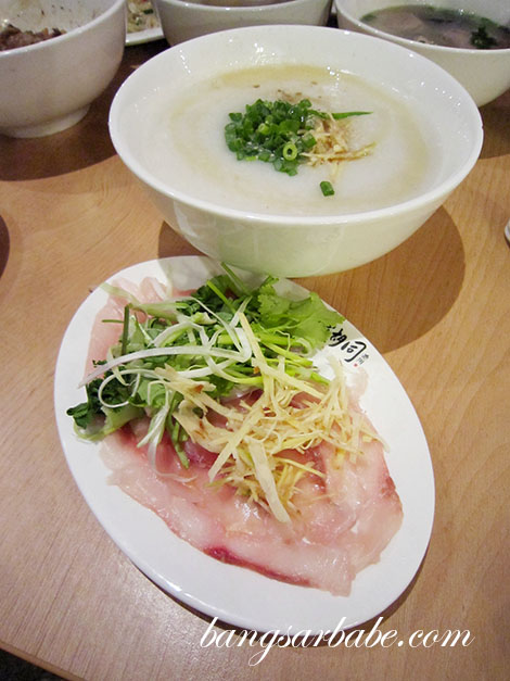 Raw Fish Porridge from Hon Kee