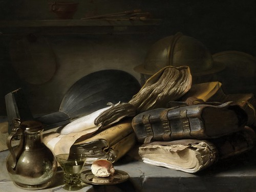 Jan Lievens - Vanitas Still Life [c.1620-30] by Gandalf's Gallery