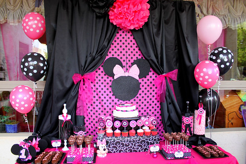 Decoración de Minnie Mouse para Fiestas Infantiles | Blogicasa