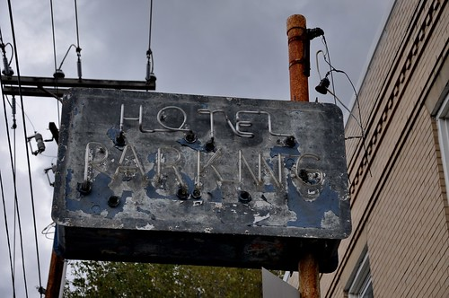 General Francis Marion Hotel Neon Parking Sign