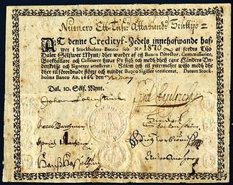 1666 Stockholm banknote