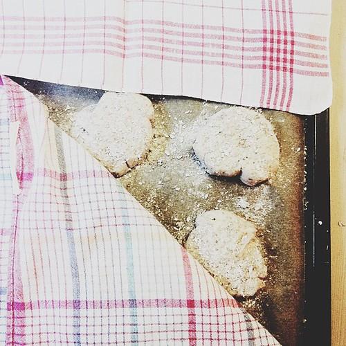 baking breakfast!