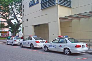 Singapore Police cars