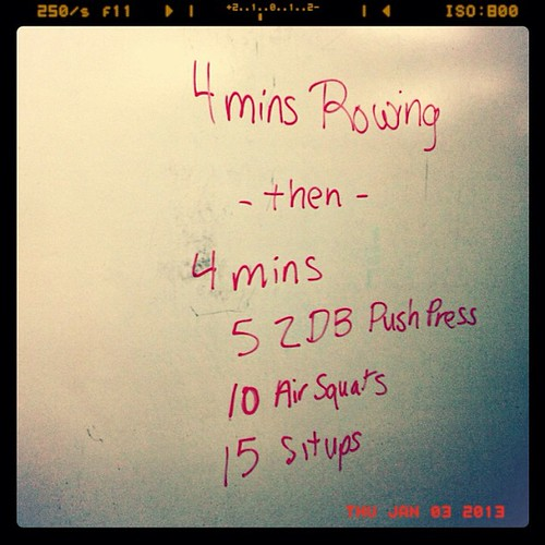 Today's WOD.