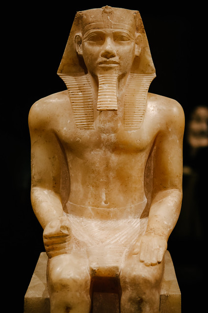 an examination of the statue of king chephren Khafre, the 4th king of egypt's 4th dynasty  khafre (chephren),  the life size diorite statue of khafre found in his valley temple and now located in.