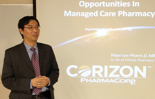 PharmaCorr's Peter Lee presents to schools in Oklahoma