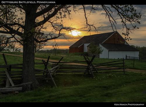 sunrise pennsylvania farm gettysburg battlefield