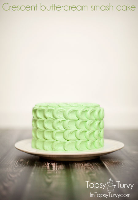 crescent-buttercream-smash-cake
