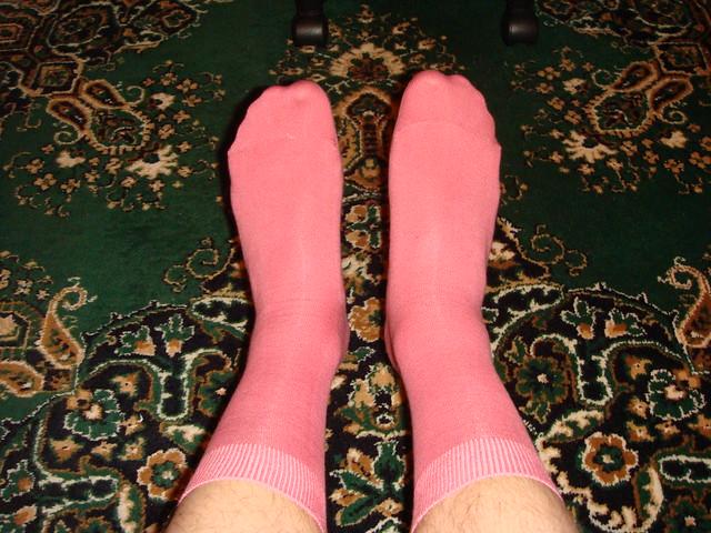 Розовые носки // Pink socks