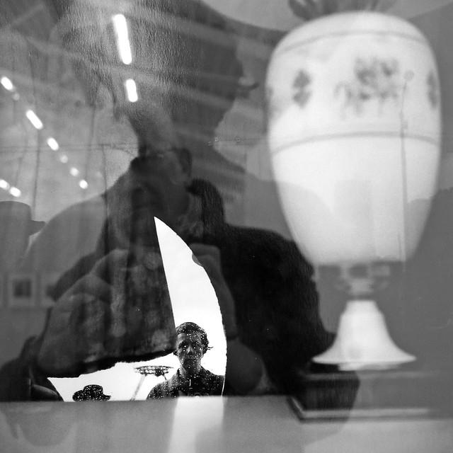 Spazio Officina (Vivian Maier) #2 (my reflection in a Vivian reflection)