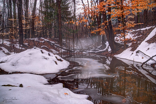 snow color ice nature water creek hdr